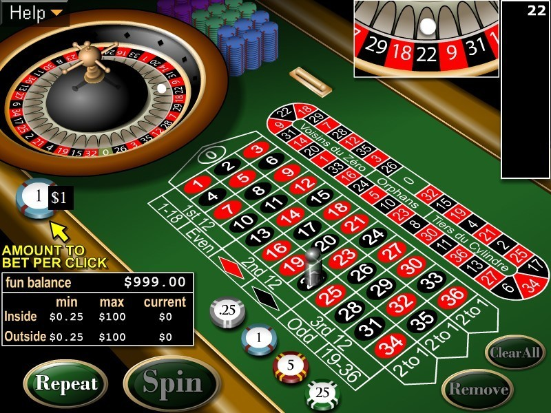 online casino for free european roulette play