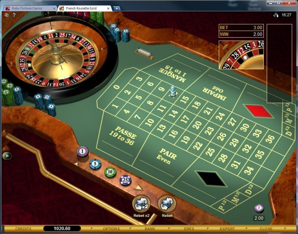 ruby fortune casino software